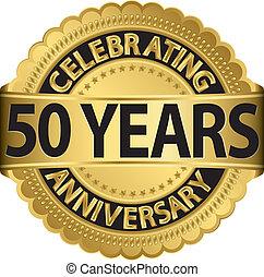 가다, 경축하는, 년, 기념일, 50