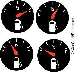 가솔린, 연료, 미터, 게이지