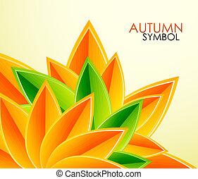 가을의 잎, 벡터, 배경