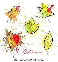 가을의 잎, 세트