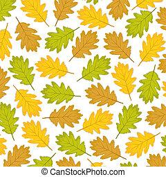 가을의 잎, 오크