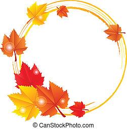가을, 구조, 벡터, 잎