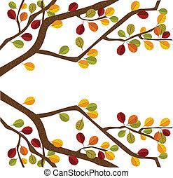 가을, 나무 가지