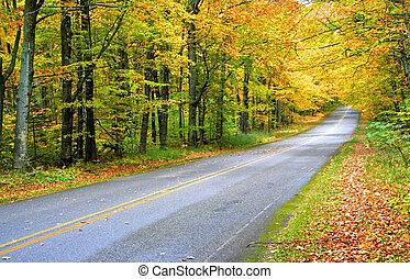 가을, 장면