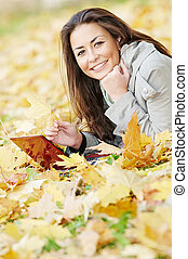 가을, 휴대용 퍼스널 컴퓨터, 여자, 컴퓨터