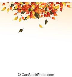 가을, leaves., 배경