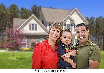 가족, 집, 나이 적은 편의, 혼합한 경주, 정면