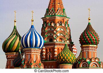 가., 러시아, 모스크바, basil's, cathedral.