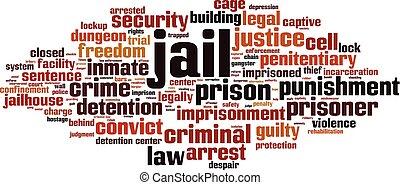 감옥, 구름, 낱말