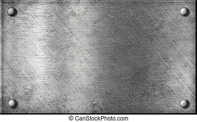 강철, 접시, 알루미늄, 알루미늄, 금속, 또는, 대갈못