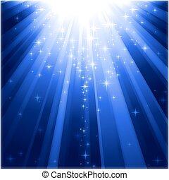 강하하는, 빛, 마술, 은 주연시킨다, 광선