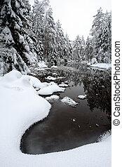 강, 겨울