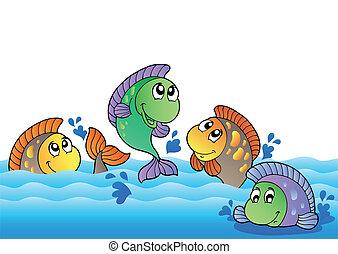 강, 바다에서는 서투른, 귀여운, 물고기