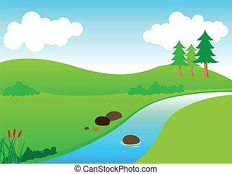 강, 보이는 상태