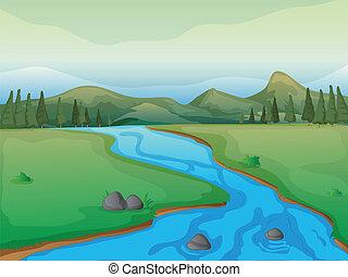 강, 산, 숲