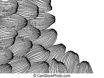 강, 카드, 바다, 또는, 물, 배경, texture., waves., 디자인
