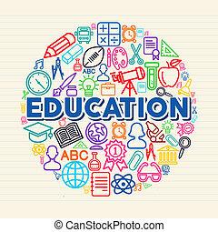 개념, 교육, 삽화