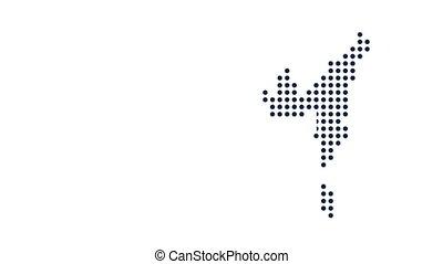 개념, 미국, map., 네트워킹, connections., 비디오, 기술, 생기, 점