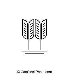 개념, 밀, 상징, 음식, 벡터, 곡물, 곡물, 유기체의, 로고
