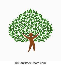 개념, 사람, 상징, 나무, 환경, 녹색