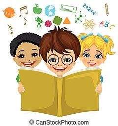 개념 아이콘, 나는 듯이 빠른, 관계가 있다, 상상, 키드 구두, 독서, 교육, 책, 밖의.