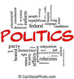 개념, 편지, 구름, 정치, 낱말, 빨강