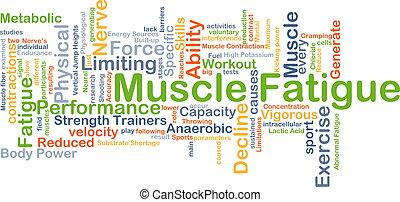 개념, 피로, 배경, 근육
