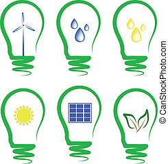 개념, symbolizing, 교체 에너지