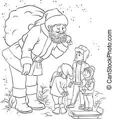 개설되는, 아이들, santa