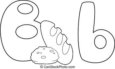 개설되는, b, 편지, bread