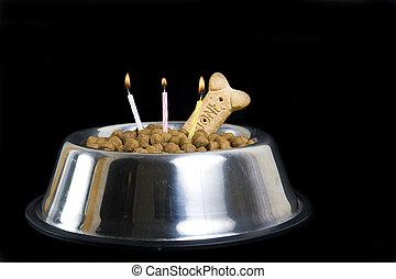개, 생일 케이크