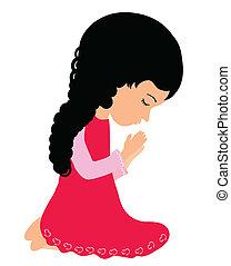 거의, 기도하는 것, 소녀