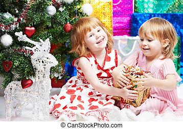 거의 소녀가 아니라, 크리스마스 선물, 년, 새로운, 또는
