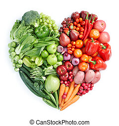 건강에 좋은 음식, 녹색 빨강