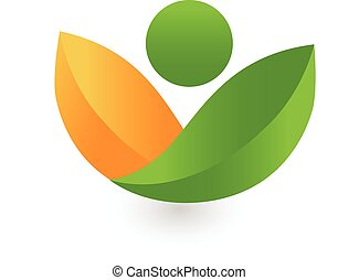 건강, 은 잎이 난다, 로고, 녹색, 자연