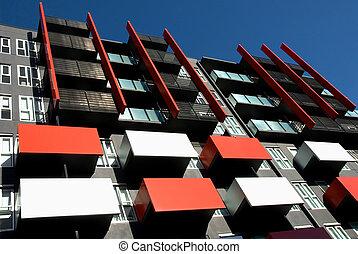 건물, 아파트, 외부