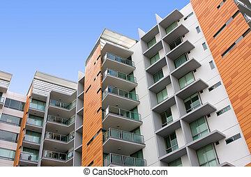 건물, 주거다, 아파트, 현대