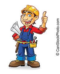 건설 직원