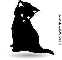 검은 고양이, 실루엣