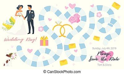게임 판자, 본뜨는 공구, 결혼식