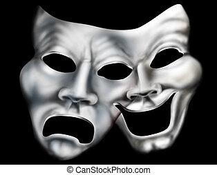 결합하는 것, 극장, 마스크
