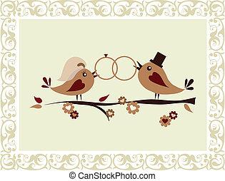 결혼식, 새, 초대