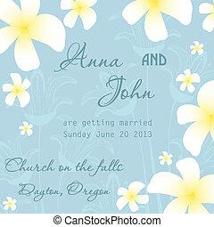 결혼식, 카드, 초대