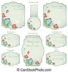 결혼식 피로연, 카드, 초대