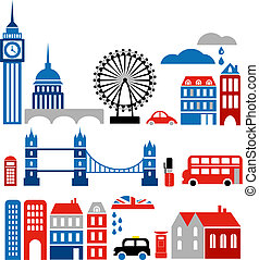 경계표, 벡터, 런던, 삽화