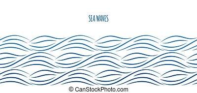 경계, 바다, 파도