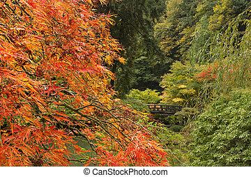 계절, 가을, 일본 정원