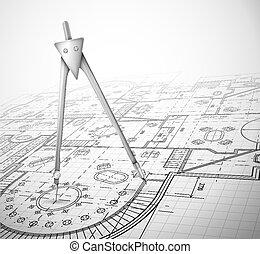계획, 건축상이다, 나침의