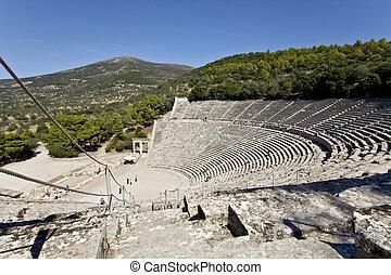 고대 그리스, peloponisos, 원형 경기장, epidaurus