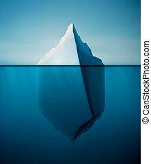 고독한, 빙산
